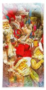 Santa Scene 1 Bath Towel