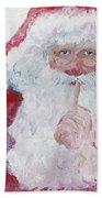 Santa Shhhh Hand Towel