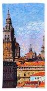 Santiago De Compostela, Cathedral, Spain Bath Towel