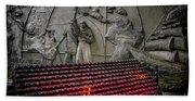 Santo Nino Candles Bath Towel