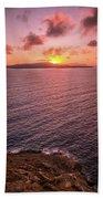 Santorini Sunset Bath Towel
