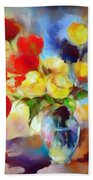 Sara's Colorful Bouquet  Hand Towel