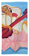 Saraswati Hand Towel by Shruti Prasad