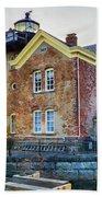 Saugerties Lighthouse Bath Towel by Nancy De Flon