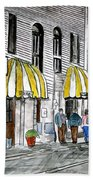 Savannah Georgia River Street 2 Painting Art Bath Towel