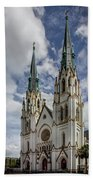 Savannah Historic Cathedral Bath Towel by James Woody