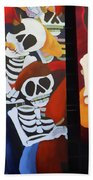 Sax Guitar Music Day Of The Dead  Hand Towel