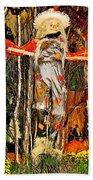Scarecrow In Bellagio Conservtory In Las Vegas-nevada Bath Towel