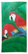 Scarlet Macaws  Bath Towel