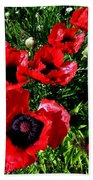 Scarlet Poppies Bath Towel