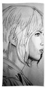 Scarlett Johansson As Major From Ghost In The Shell Bath Towel