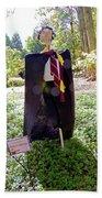 Scarry Potter Scarecrow At Cheekwood Botanical Gardens Bath Towel