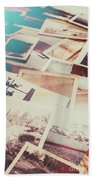Scattered Collage Of Old Film Photography Bath Towel