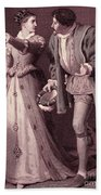 Scene From Much Ado About Nothing By William Shakespeare Bath Towel