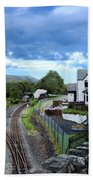 Scene In Snowdonia National Park In Wales Bath Towel