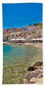 Scenic Mediterranean Beach In Primosten Bath Towel