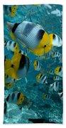 School Of Butterflyfish Bath Towel