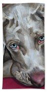 Scooby Weimaraner Pet Portrait Bath Towel