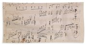 Score Sheet Of Moonlight Sonata Hand Towel