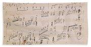 Score Sheet Of Moonlight Sonata Bath Towel