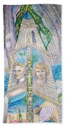 Scott And Zelda In Their New York Dream Tower Bath Towel