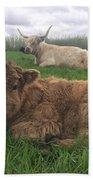 Scottish Highland Calf Bath Towel