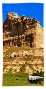 Scotts Bluff National Monument Panorama Bath Towel