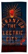 Scranton - The Electric City Bath Towel
