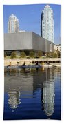 Sculling By The Tampa Bay Art Center Bath Towel