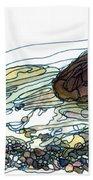 Sea And Rocks Landscape Hand Towel