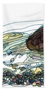 Sea And Rocks Landscape Bath Towel