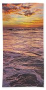Sea At Sunset In Algarve Hand Towel