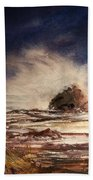 Sea Drama Hand Towel