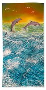 Sea In Action Hand Towel