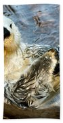 Sea Otter Portrait Bath Towel