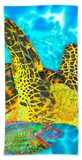 Sea Turtle And Parrotfish Hand Towel