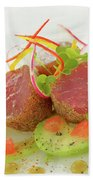 Seafood Tuna Yellow Fin Maldives Bath Towel