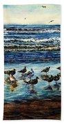 Seagull Get-together Bath Towel