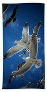 Seagulls Above Bath Towel