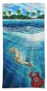Seahorse Blues Bath Towel