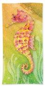Seahorse Pink Bath Towel