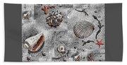 Seashells Collage Of Any Color Bath Towel