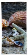 Seashells And Driftwood Bath Towel
