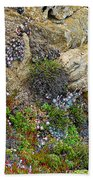 Seaside Cliff Garden In Point Lobos State Reserve Near Monterey-california  Bath Towel