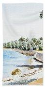 Seaside Town Bath Towel