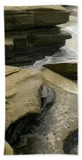 Seaside With Rocks On Left Bath Towel
