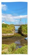 Seaton Sluice Harbour Bath Towel