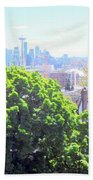 Seattle From A Hill Bath Towel
