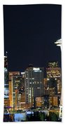 Seattle Night Sky Bath Towel