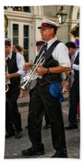 Second Line Wedding On Bourbon Street New Orleans Bath Towel